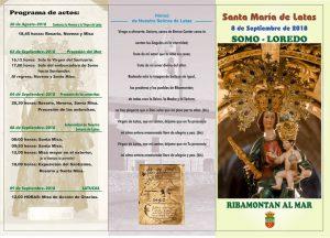 Actos religiosos Virgen de Latas @ Somo-Loredo