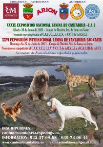 cartel exposiciíon canina 2021